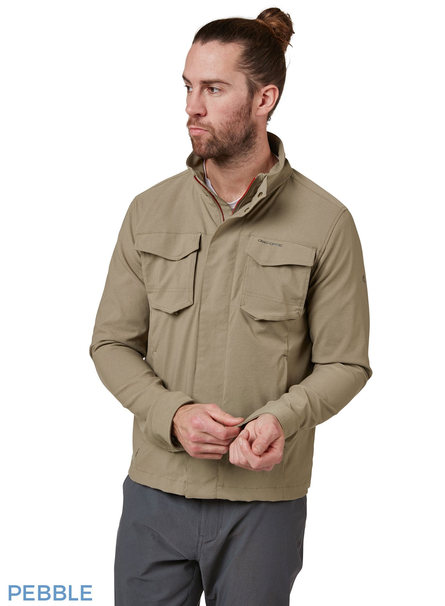 Pebble Edmund Multi pocket short Travel Jacket by Craghoppers