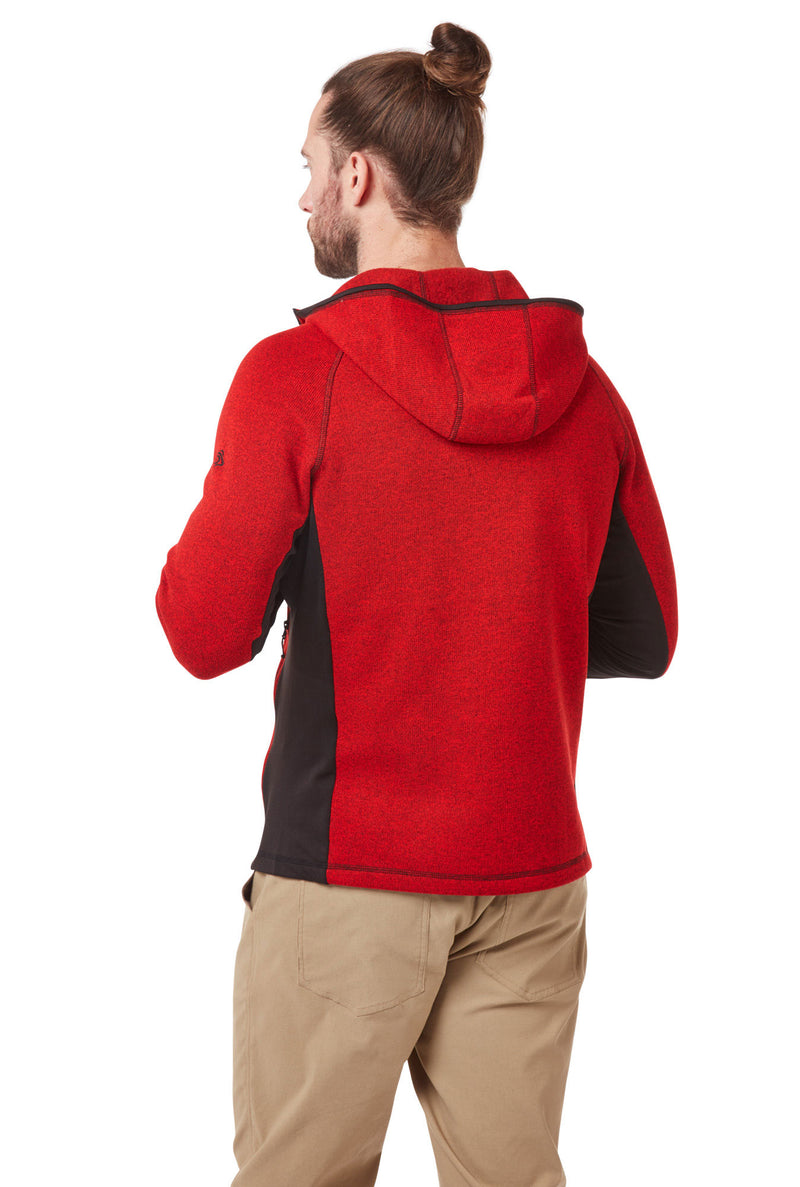 Back View Sriracha Red Craghoppers Apollo Hooded Fleece Jacket