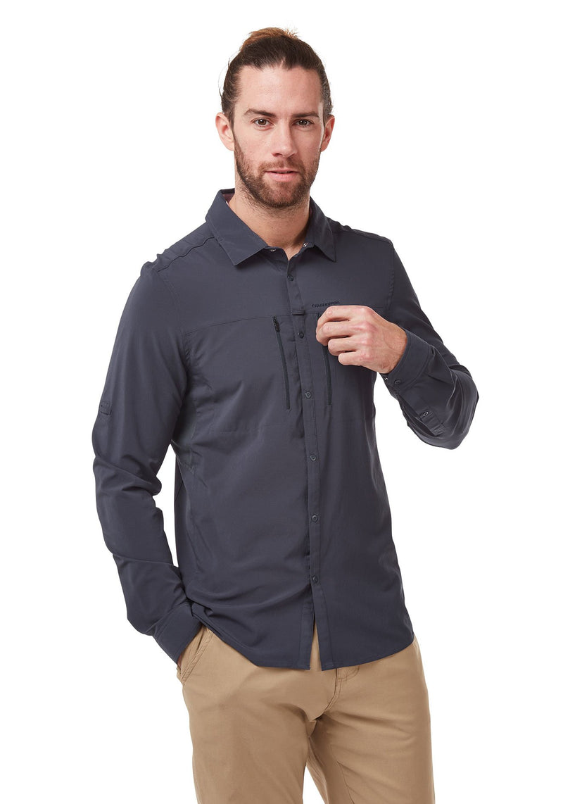 Steel Blue NosiLife PRO IV Long Sleeved Shirt by Craghoppers