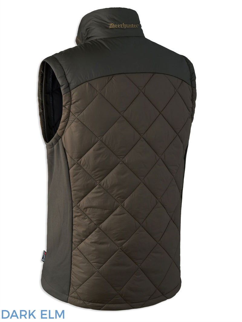 Back View Deerhunter Cumberland Quilted Waistcoat