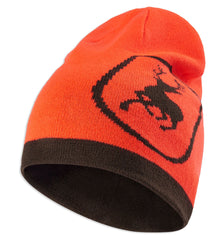 Orange with deerhunter logo Deerhunter Cumberland Reversible Beanie