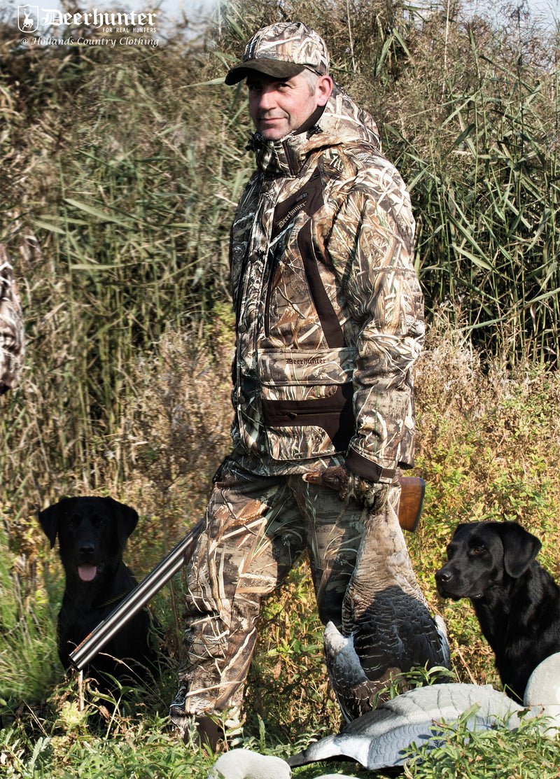 Hunting with dogs Deerhunter Muflon Trousers | Realtree Max-5 Camo