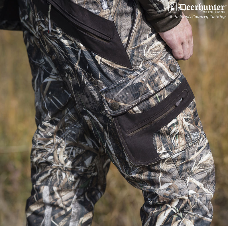 Cargo thigh pockets Deerhunter Muflon Trousers | Realtree Max-5 Camo