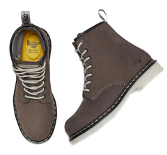 Grey with white laces Dr Marten's Maple Women's Work Boots
