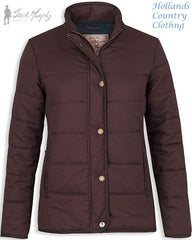 in claret colour Jack Murphy Darcy Ladies Thermal Jacket