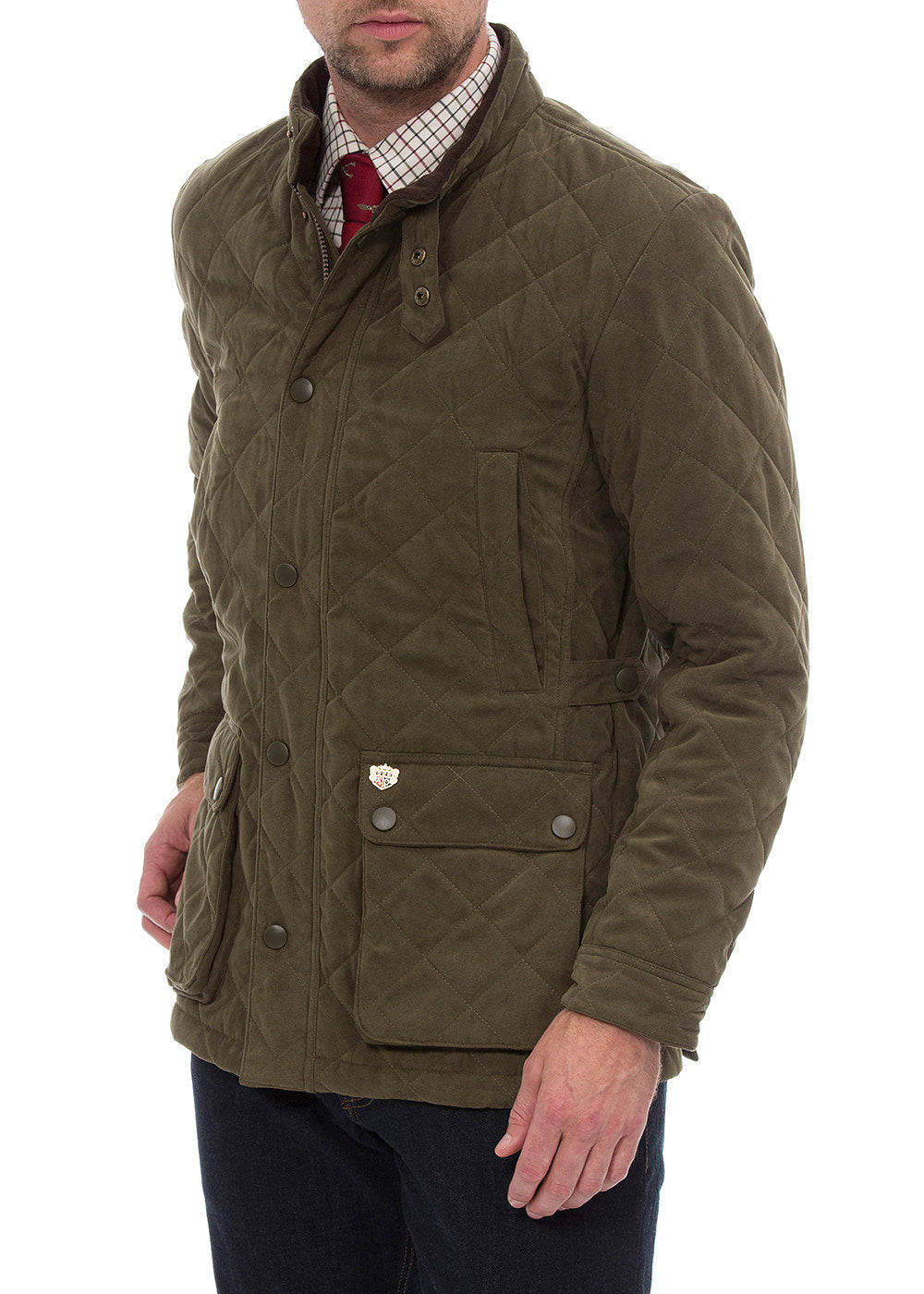 side view Man wearing Felwell Quilted Jacket by Alan Paine