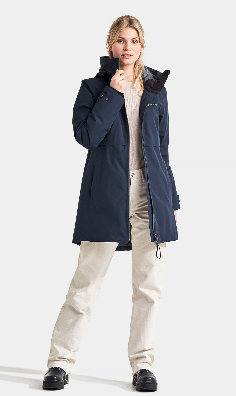 Navy Didriksons Helle III Ladies Waterproof Winter Parka Coat