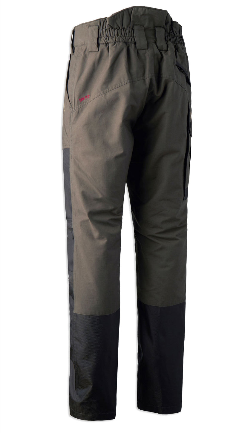 Back View Upland Waterproof Reinforced Trousers by Deerhunter