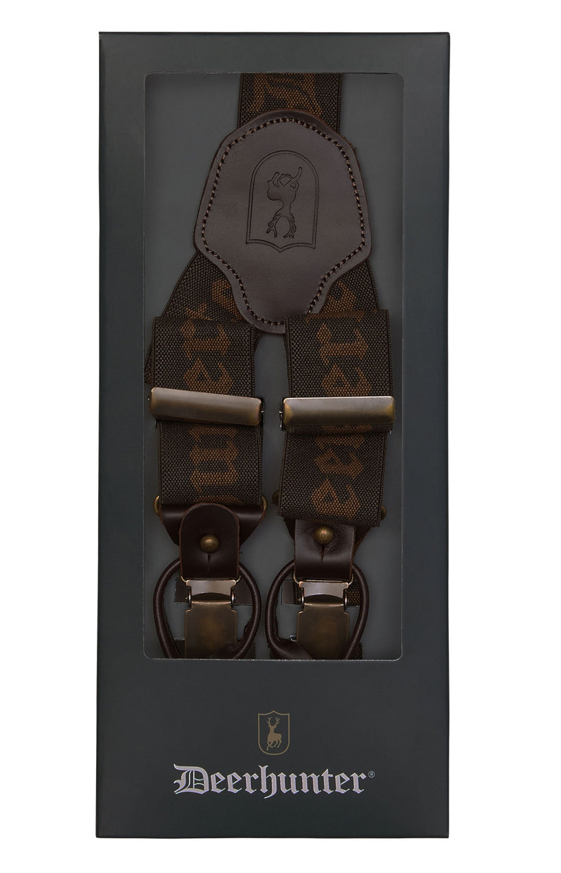 Deerhunter Branded Braces For Buttons - 130cm