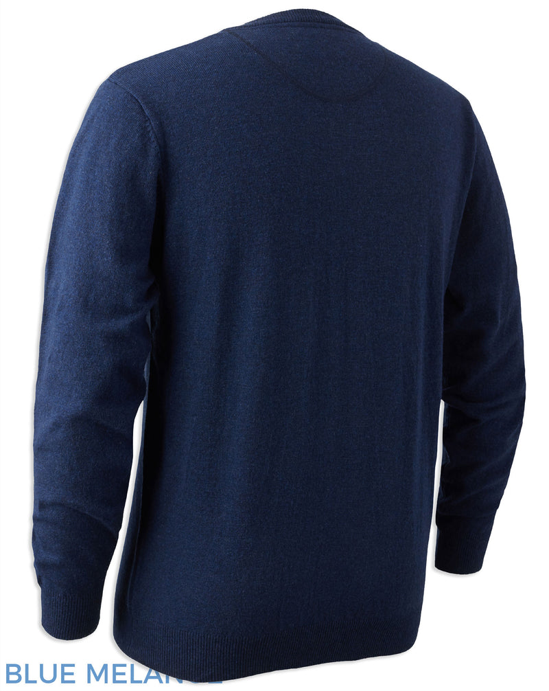 Rear view Blue country pullover
