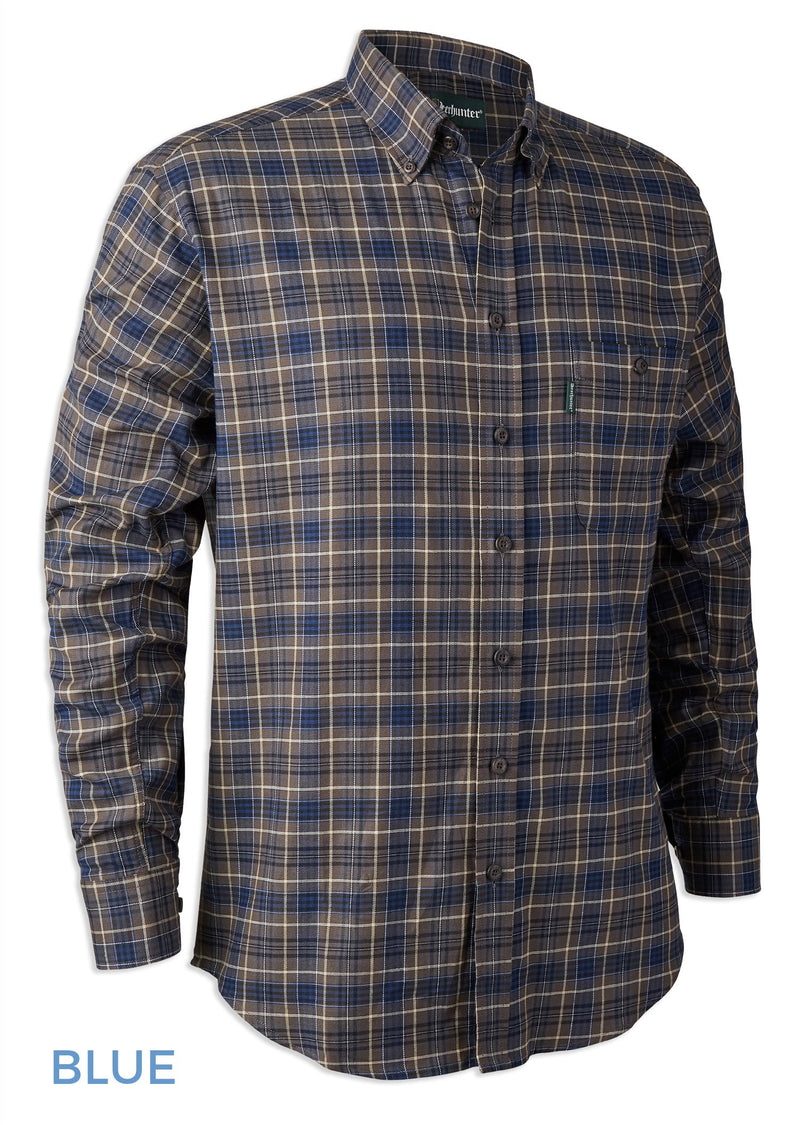 Blue Tartan Deerhunter Calvin Check Shirt