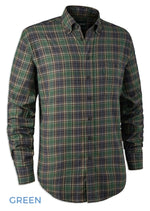 Green Tartan Deerhunter Calvin Check Shirt