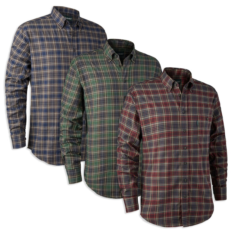 Deerhunter Calvin Check Shirt | Red, Blue, Green Check