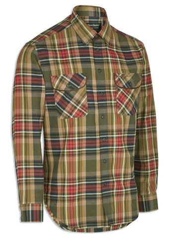 Deerhunter Gabriel Tartan Hunting Shirt with Suede Patches