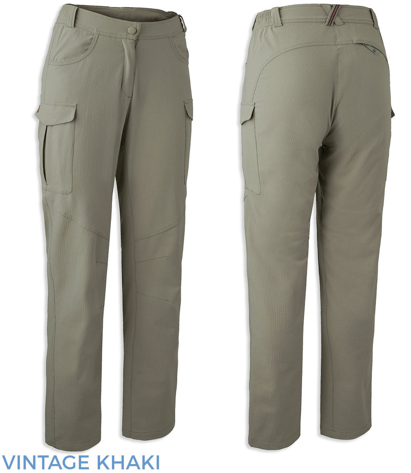 Vintage Khaki Lady Rose Trail Trousers by Deerhunter
