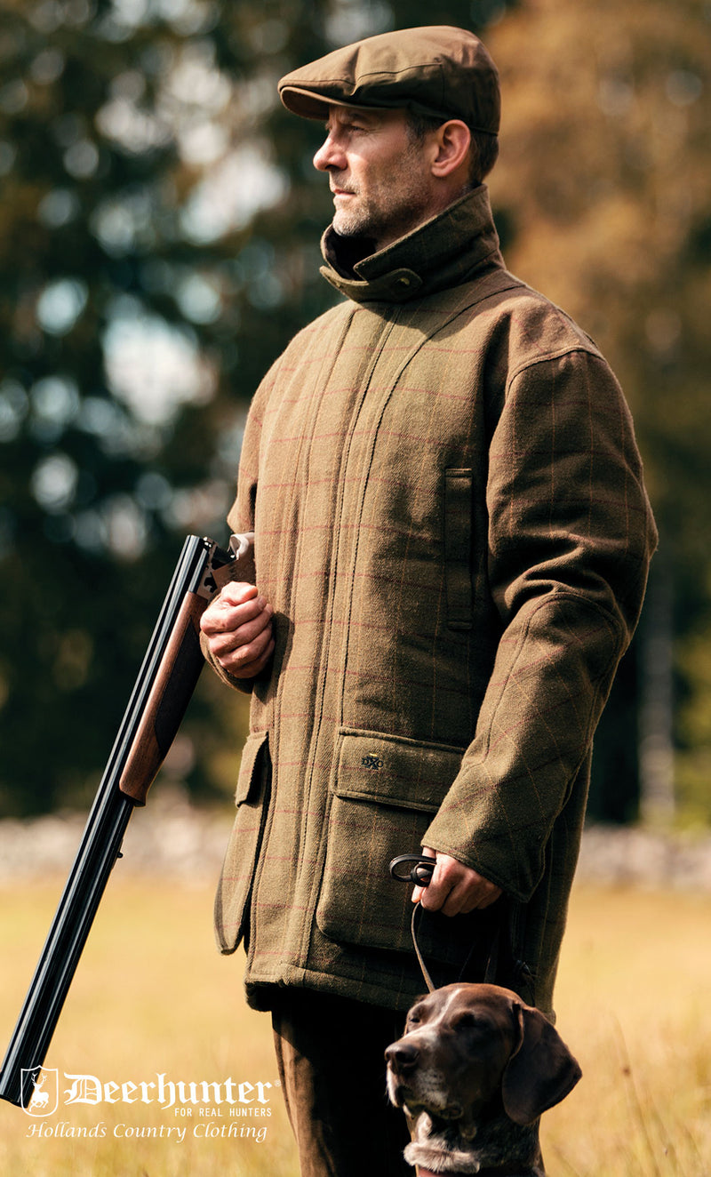 Deer-Tex® membrane inner liner is 100% Waterproof and Breathable and the tweed outer has a water-repellent treatment