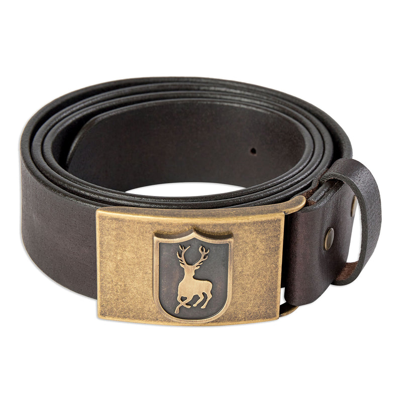 Deer Buckle Deerhunter leather belt