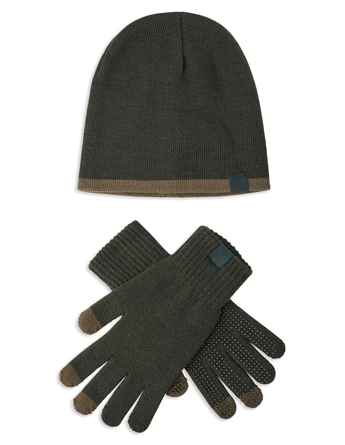 Deerhunter Anti-Slip Mobile-touch Gloves and Winter Hat