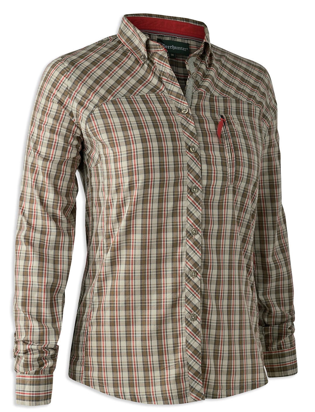 Deerhunter Lady Heather Shirt Red Green Check