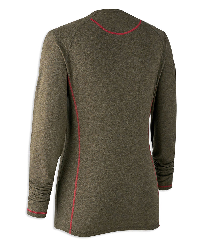 Back Green Deerhunter Lady Hazel Long Sleeve Shirt