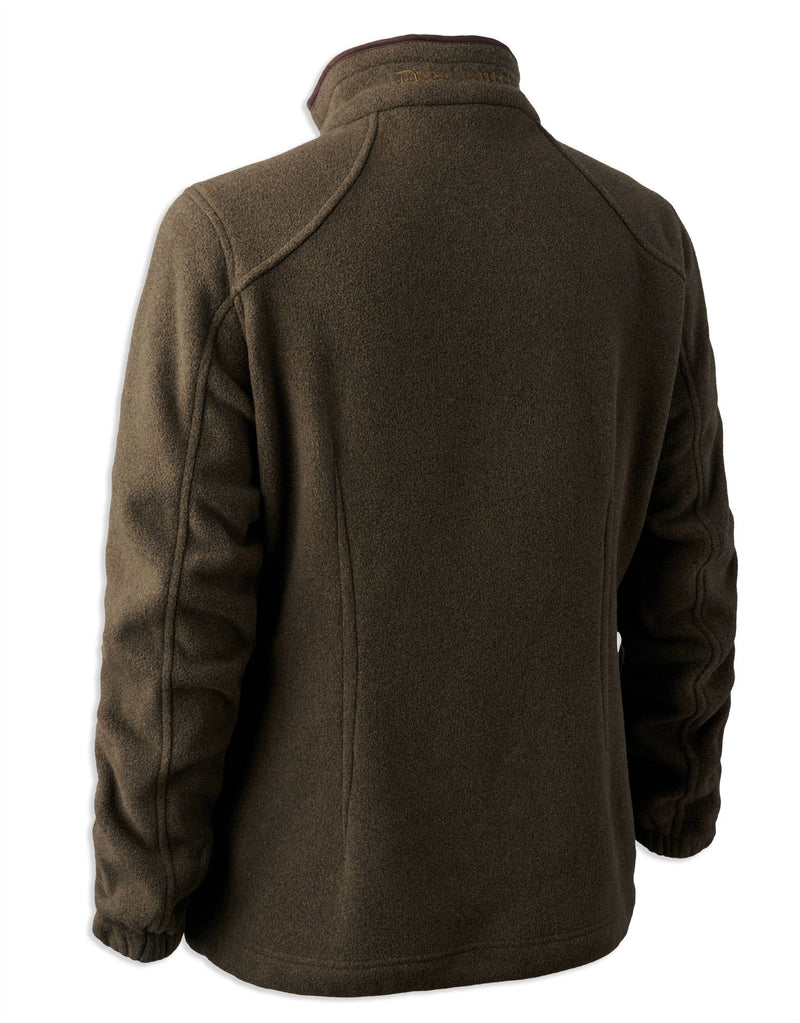 Back View Deerhunter Lady Josephine Fleece Jacket | Graphite Green