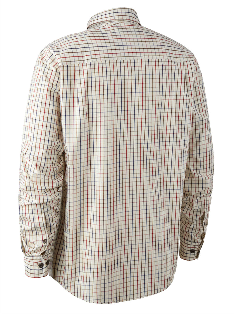 Classic country shirt in a smart red based Tattersall check