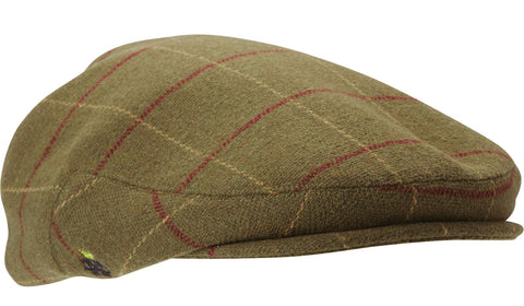 Deerhunter Woodland Waterproof Tweed Flat Cap