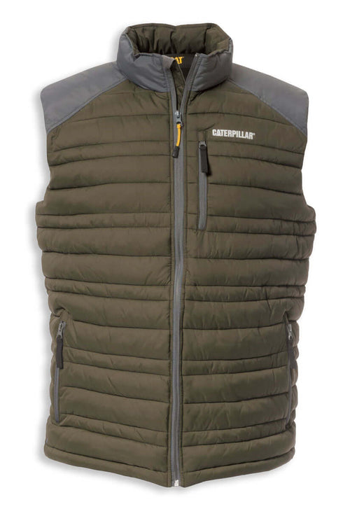 Caterpillar Defender Quilted Bodywarmer | Moss
