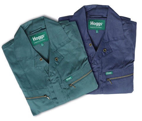 Hoggs of Fife Deluxe Zipped Coverall IN NAVY AND GREEN
