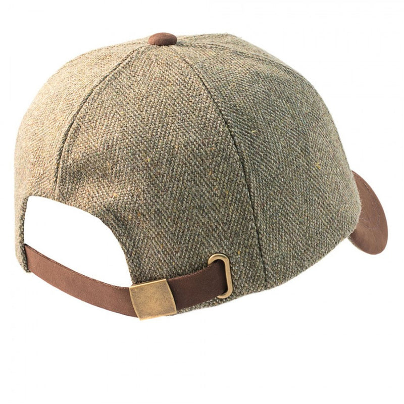 Derby Tweed Leather Peak Baseball