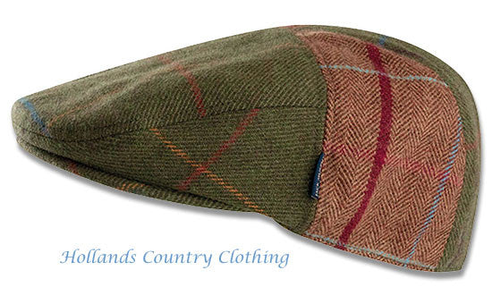 Jack Murphy Devon Patchwork Tweed Flat Cap