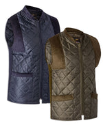 Bronte Quilted Bodywarmer | Green & Navy