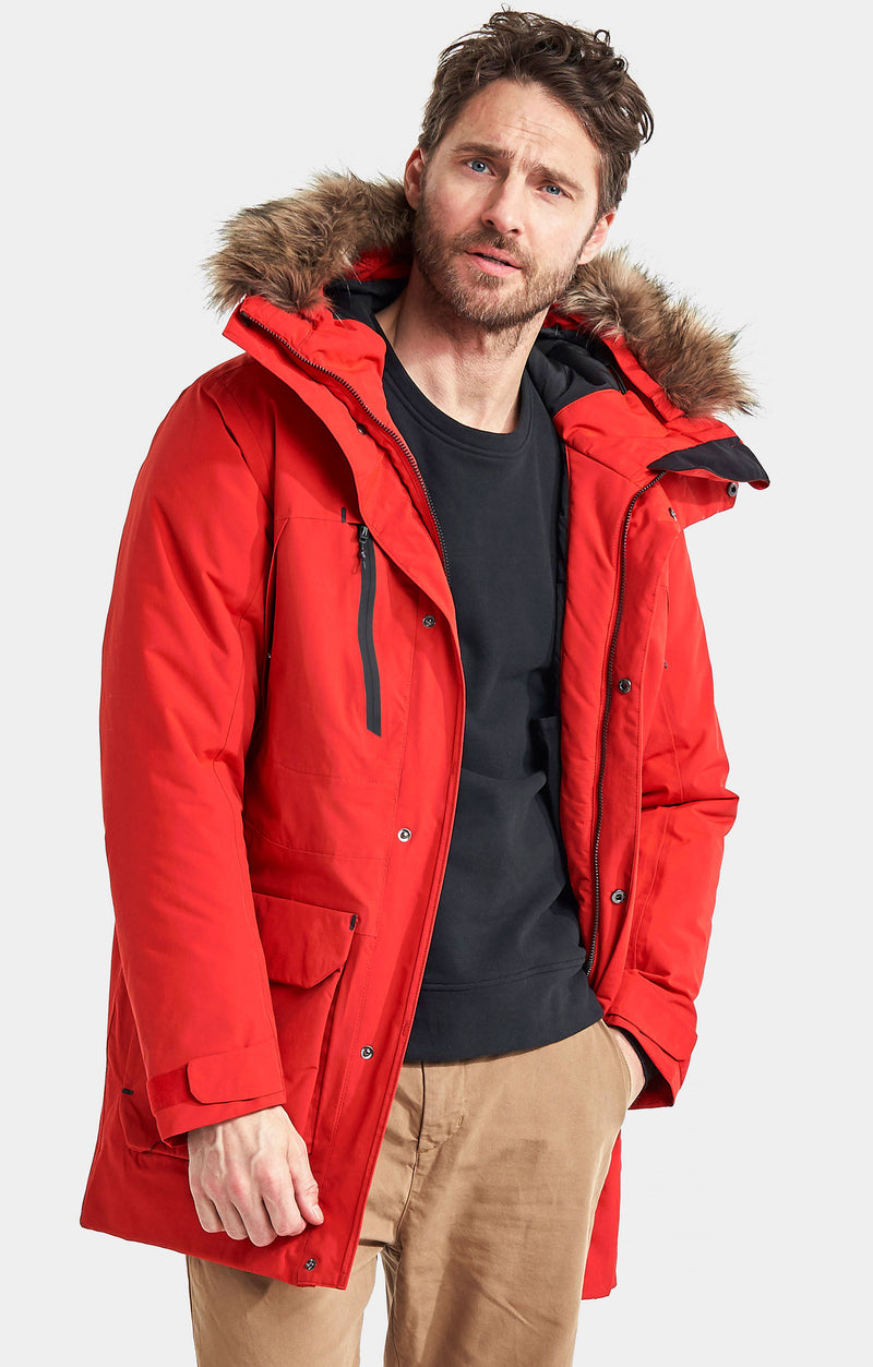 Red Men's Marco Waterproof Parka Coat by Didriksons