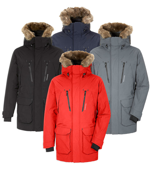 Didriksons Marco Waterproof Parka | Lava Red, Navy, Black, Grey