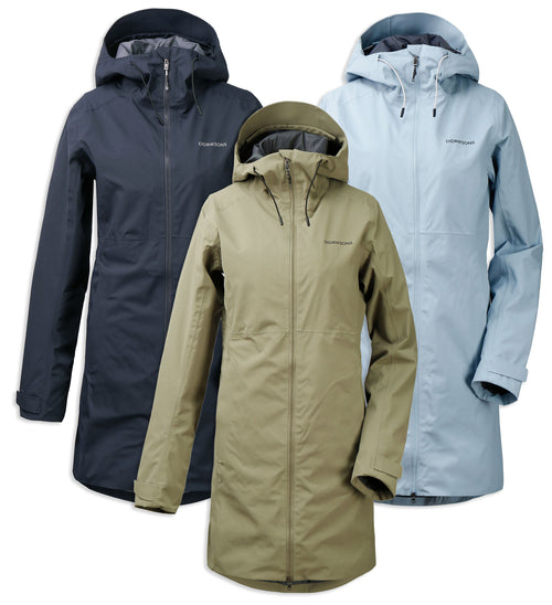 Didriksons Bea 2 Waterproof Parka | Mistel Green, Dark Night Blue, Cloud Blue