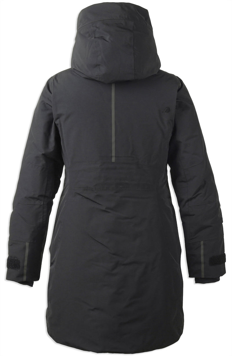 Back Black Didriksons Silje Padded Waterproof Parka