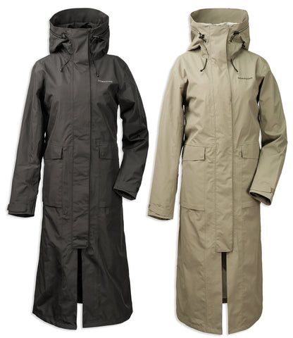 Didriksons Sissel Long Waterproof Coat | Black, Mistel Green