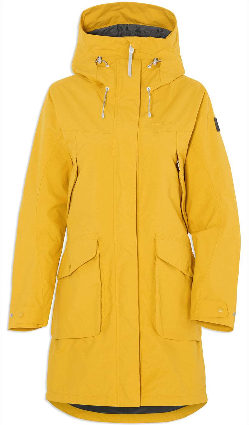 Oat Yellow Didriksons Thelma II Waterproof Parka front view