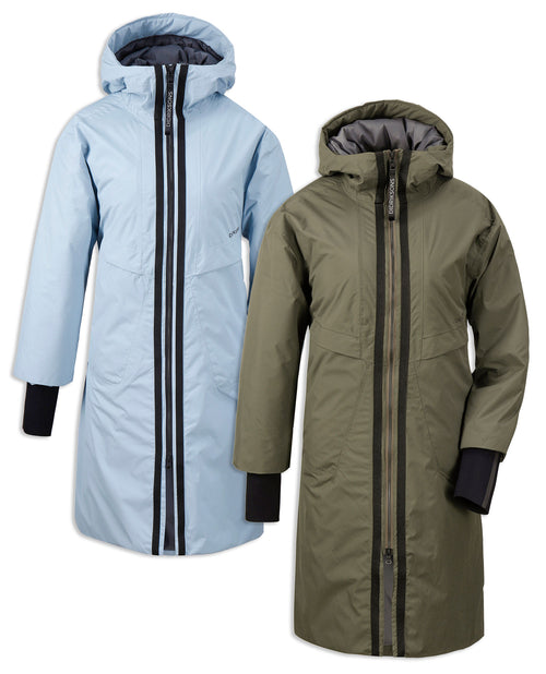 Didriksons Aino 2 Waterproof Parka | Fog Green, Cloud Blue