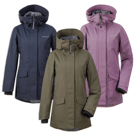 Didriksons Frida 4 Padded Waterproof Parka | Eggplant, For Green, Deep Blue