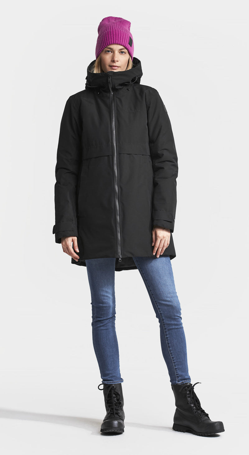 Didriksons Helle II Ladies Waterproof Winter Parka Coat Black