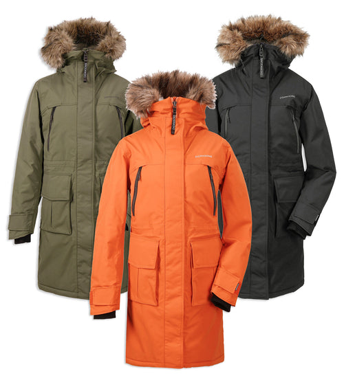 Didriksons Leona Padded Waterproof Parka | Burnt Orange, Fog Green, Black