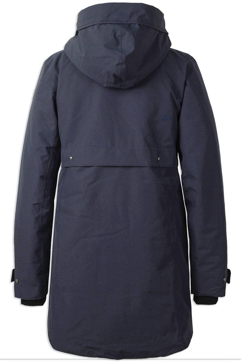 Back View Navy Blue Didriksons Helle II Waterproof Parka