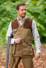 Camel Dolman Traditional Shooting Vest by Baleno
