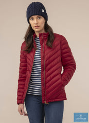 zip Front Lighthouse Lara Down Jacket Deep Red