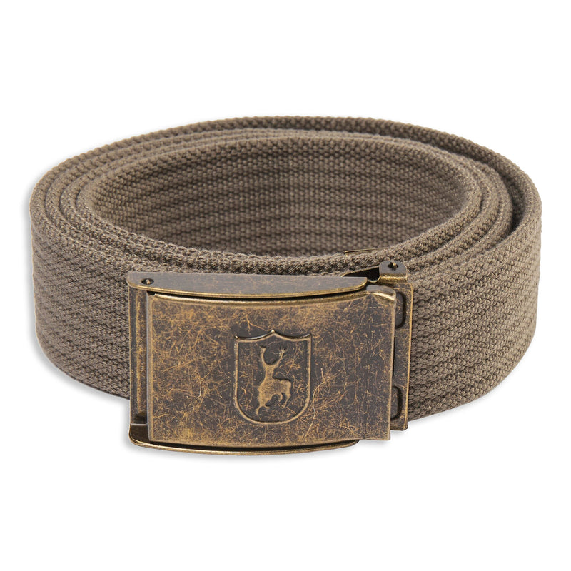 Driftwood Deerhunter Canvas Deer Buckle Belt