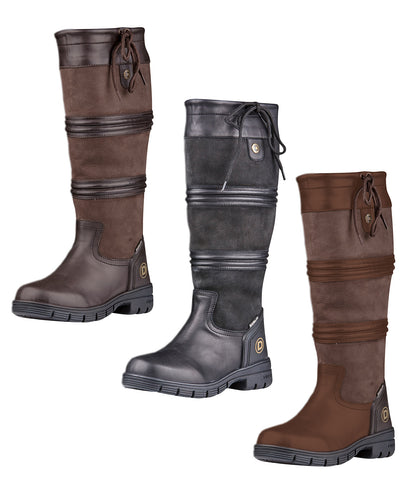 Dublin Husk Boots II Black, Brown, Chocolate Leather