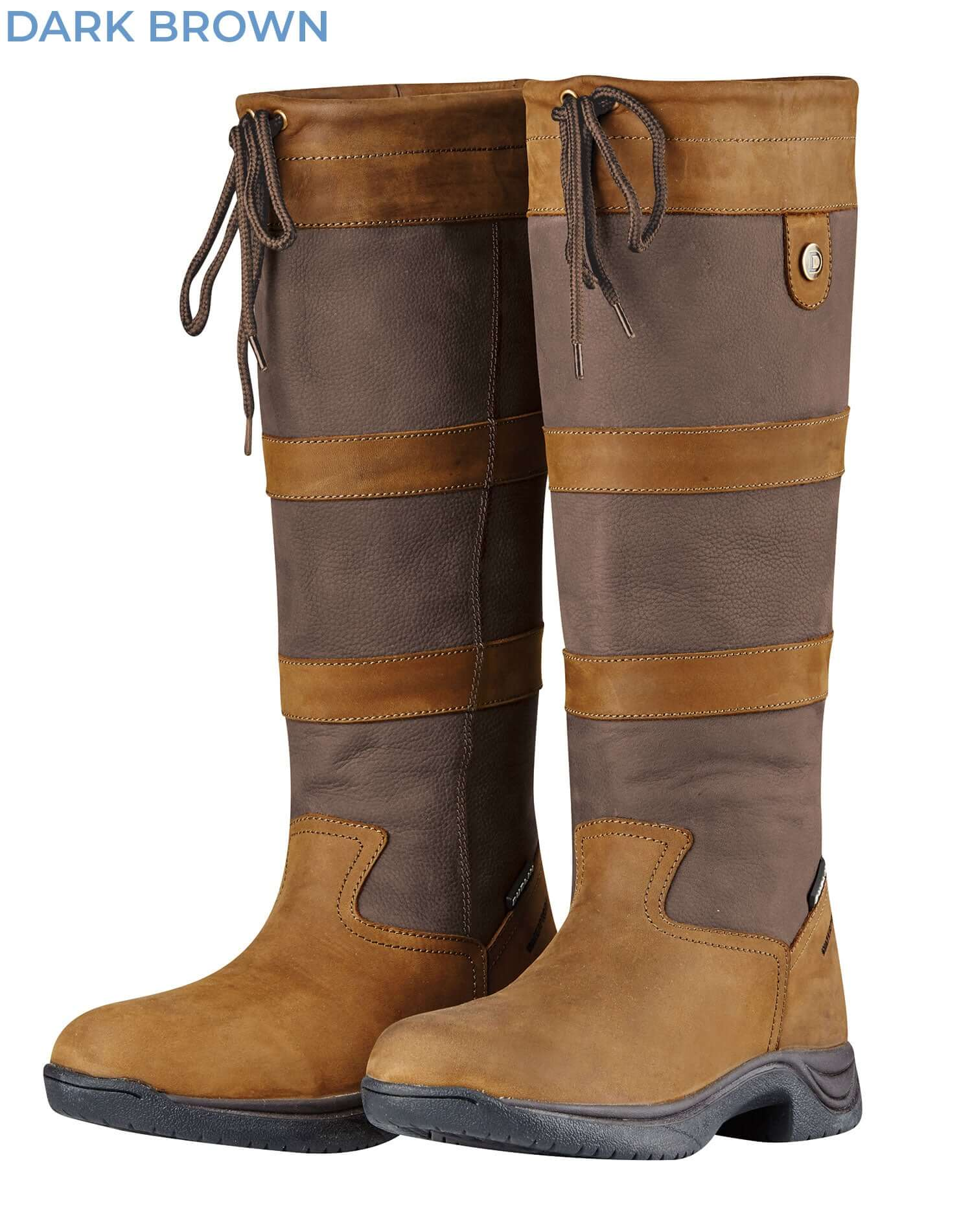 Dark Brown River III Luxury High Leg Leather Boot by Dublin