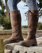 Chocolate River boots at the waters edge