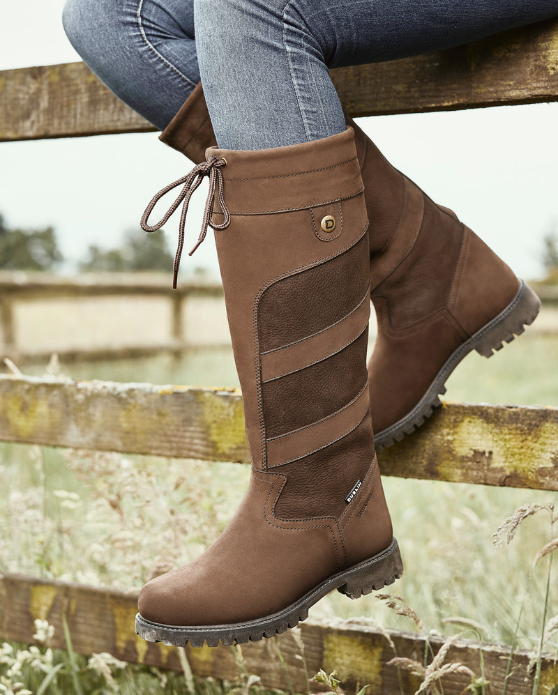 Leather Ladies Country  high leg boot Kennet